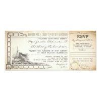 boarding pass cruise wedding invites with rsvp 4&quot; x 9.25&quot; invitation card (<em>$2.57</em>)