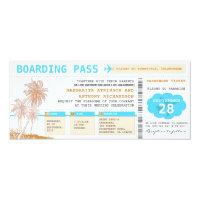 boarding pass destination wedding tickets 4&quot; x 9.25&quot; invitation card (<em>$2.57</em>)