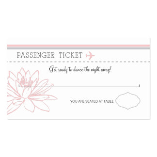 Boarding Pass Escort/Seating Card Double-Sided Standard Business Cards (Pack Of 100)