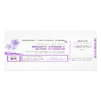 boarding pass flight wedding invites with RSVP (<em>$2.35</em>)