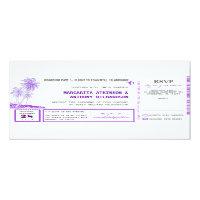 boarding pass flight wedding invites with RSVP 4&quot; X 9.25&quot; Invitation Card (<em>$2.57</em>)