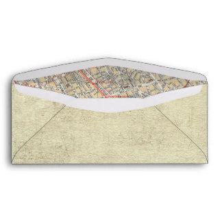 Boarding Pass Map Envelopes
