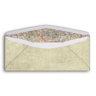 Boarding Pass Map Envelopes