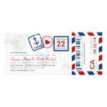 Boarding Pass Nautical Airmail Ticket Invitation