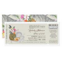 Graduation party invitations zazzle boarding pass pineapple beach graduation party filmwisefo Gallery