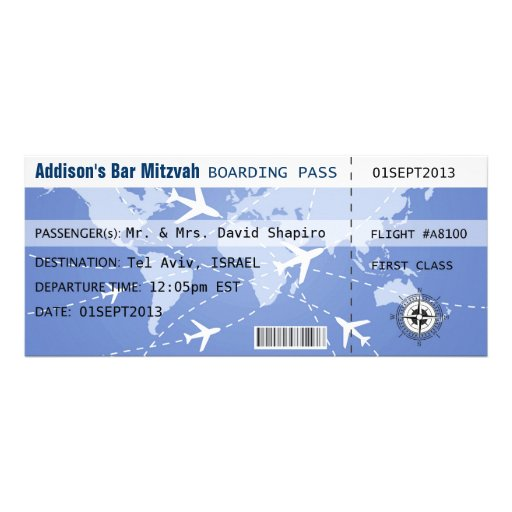 Boarding Pass Placecard Invitation