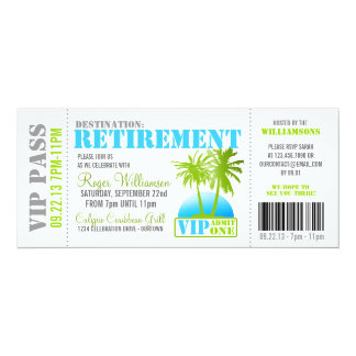 Boarding Pass Retirement Party Invitation