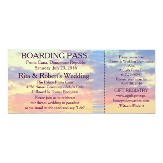 Boarding Pass Ticket | Destination Wedding Card