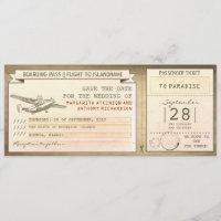 Airline Ticket Invitations Zazzle