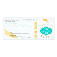 Boarding Pass to Aruba Wedding Invitation