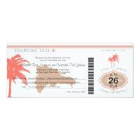 Boarding Pass to Dominican Republic Wedding Card (<em>$2.57</em>)