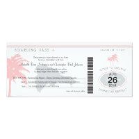 Boarding Pass to Dominican Republic Wedding 4x9.25 Paper Invitation Card (<em>$2.57</em>)