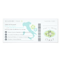 Boarding Pass to Italy Wedding Invitation (<em>$2.57</em>)