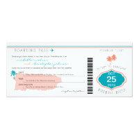 Boarding Pass to Puerto Rico Wedding 4x9.25 Paper Invitation Card (<em>$2.57</em>)