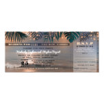 Boarding Pass Tropical Beach Lights Wedding Ticket Card at Zazzle