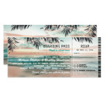 Boarding Pass Tropical Beach Wedding Tickets Rsvp Card at Zazzle