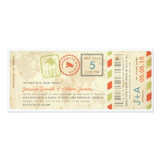 Boarding Pass Wedding Invitations | Tropical Papers