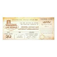 boarding pass wedding tickets-invitation LAS VEGAS 4x9.25 Paper Invitation Card (<em>$2.57</em>)