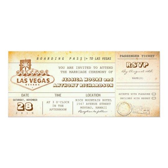 Boarding pass wedding tickets invitation las vegas card zazzle boarding pass wedding tickets invitation las vegas card stopboris Choice Image