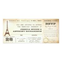 boarding pass wedding tickets- invitations PARIS (<em>$2.57</em>)