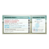 boarding pass wedding tickets-invites with rsvp 4&quot; x 9.25&quot; invitation card (<em>$2.57</em>)