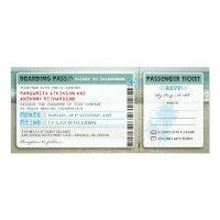 boarding pass wedding tickets-invites with rsvp 4x9.25 paper invitation card (<em>$2.57</em>)