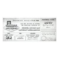 boarding pass wedding tickets LAS VEGAS Card (<em>$2.57</em>)