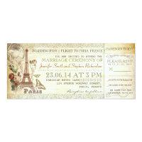 boarding pass wedding tickets to PARIS Card (<em>$2.52</em>)