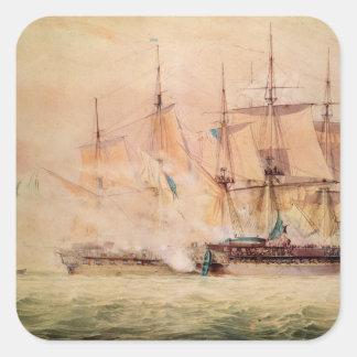 Boarding the 'Chesapeake' Square Sticker