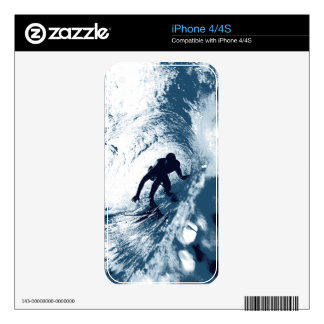 Boarding Trybe Tube, Hawaiian Surf Graphic Skins Decals For The iPhone 4S