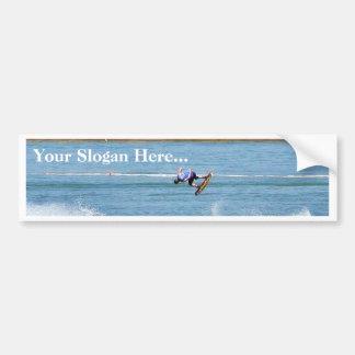 Boarding Water Surfing Bumper Sticker