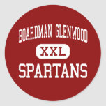 Boardman Glenwood - Spartans - Middle - Youngstown Round Stickers