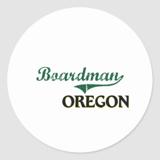 Boardman Oregon Classic Design Round Sticker