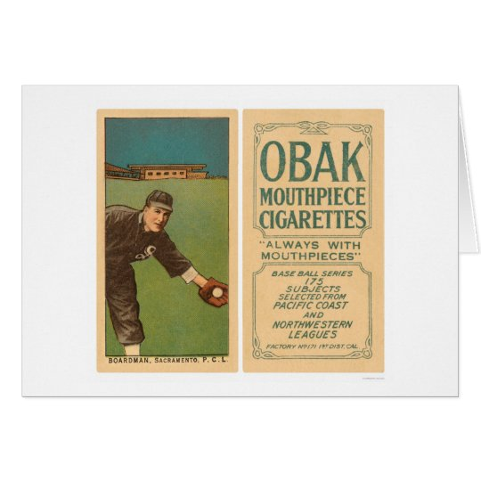 Boardman Sacramento Baseball 1910 Card