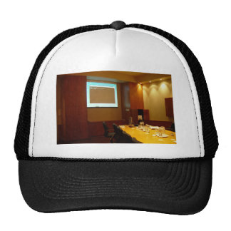 Boardroom With Projector Display Mesh Hat