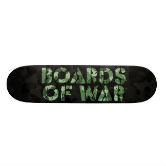 Boards Of War Black and Green Camo Logo Deck