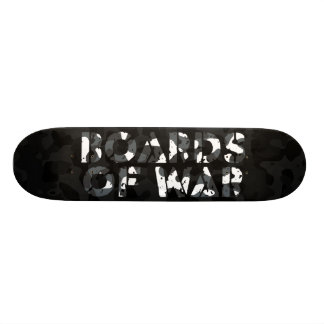Boards Of War Black and White Camo Deck Skateboards