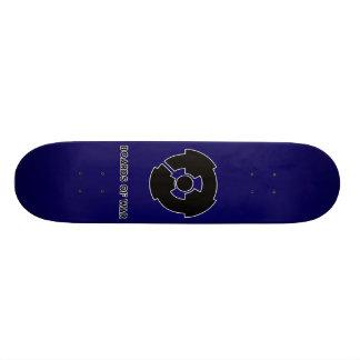 Boards Of War Blue Nuke Logo Deck Skateboard
