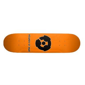 Boards Of War Orange Nuke Logo Deck Custom Skate Board