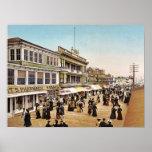 Boardwalk at Atlantic City, 1900 Print