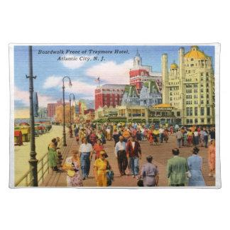 Boardwalk, Atlantic City Vintage Cloth Placemat
