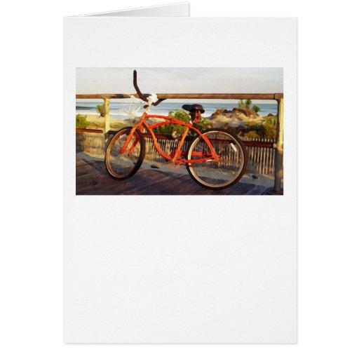 Boardwalk Bike Greeting Card