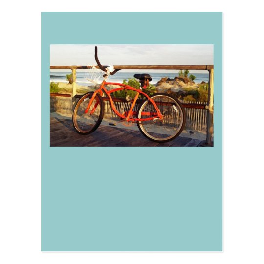 Boardwalk Bike Postcard