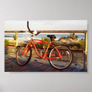 Boardwalk Bike Poster