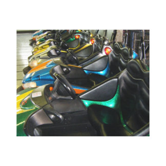 Boardwalk Bumper Cars Rehoboth Beach, DE Photo Canvas Print