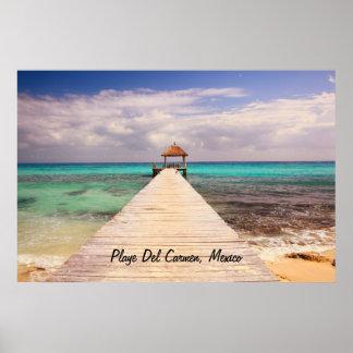 Boardwalk Dock in Playa del Carmen Poster