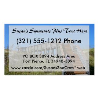 Boardwalk, Florida, Cape San Bur beach picture Business Card