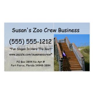 Boardwalk, Florida, Cape San Bur beach picture Business Cards