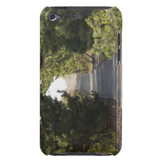 Boardwalk footpath through evergreen iPod touch Case-Mate case