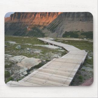 Boardwalk in Waterton Glacier International Mouse Pads